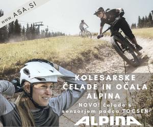 Čelade in kolesarska očala Alpina
