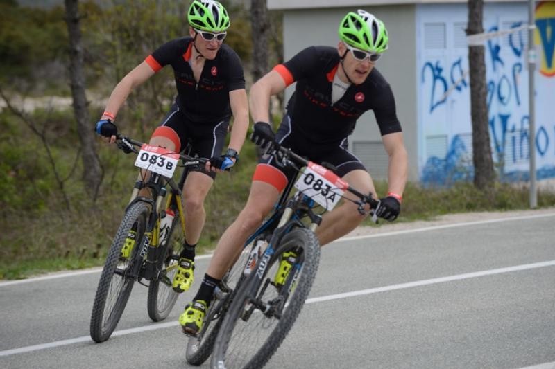 Hribovšek in Tavčar po drugi etapi