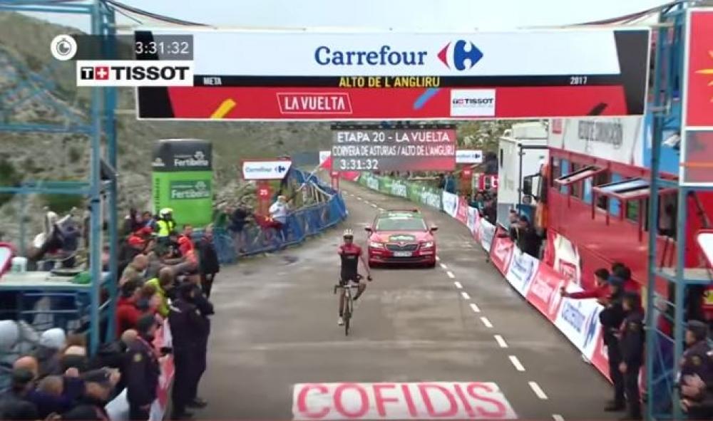Contador do zmage v predzadnji etapi