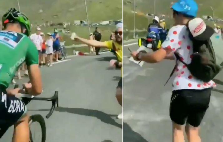Sagan na vzponu na Tourmalet