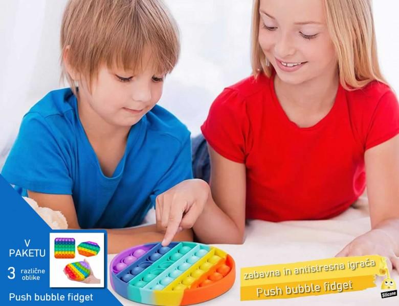 Push bubble fidget - mehurčki za pokanje - zabavna in antistresna igrača (3 različne oblike)